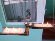 Свечи в бамбуке