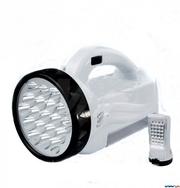 Фонарь-прожектор аккумуляторный светодиодный 19 LED + панель 28 LED. Б