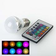 3W RGB Лампа,  разноцветная лампа LED,  цоколь Е14