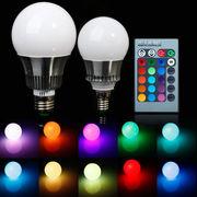 10W RGB Лампа,  разноцветная лампа LED,  цоколь Е27