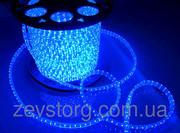 Светодиодный дюралайт LED-2W-100-240V (36 св. /м,  АС 220 В,  синий)