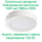 Светодиодный накладной светильник 6W,  12W,  18W,  24W Led  Светодиодный