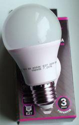 Светодиодная лампа 6W 510Lm E27 220V вольт с гарантией