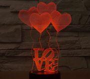 Лучший подарок для Любимых и детей! 3D-светильник!